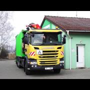 Hydraulický nakládací jeřáb Fassi F155A.2.23 jako velký pomocník při svozu odpadu.